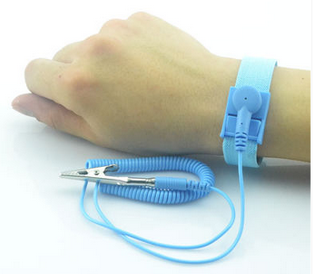 ESD wrist band correct connect