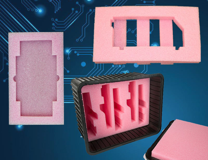 Pink anti static foam
