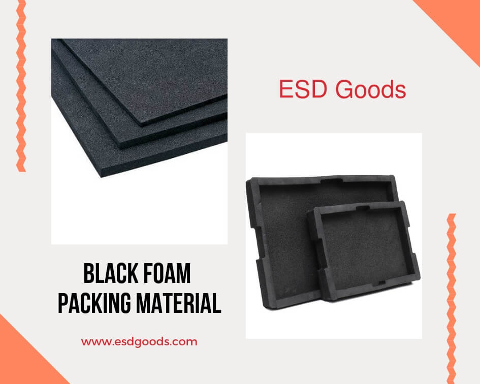 Black foam packing material
