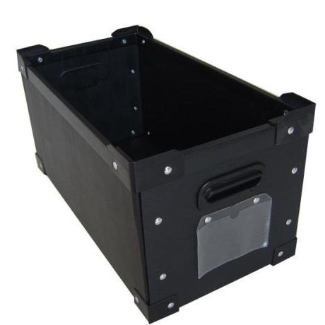 ESD PP corrugated box with box corner